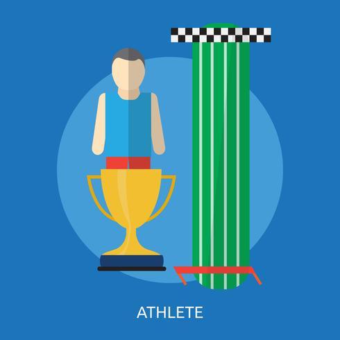 Atlet Conceptual ilustración Diseño
