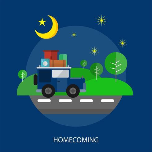 Homecoming Conceptual illustration Design