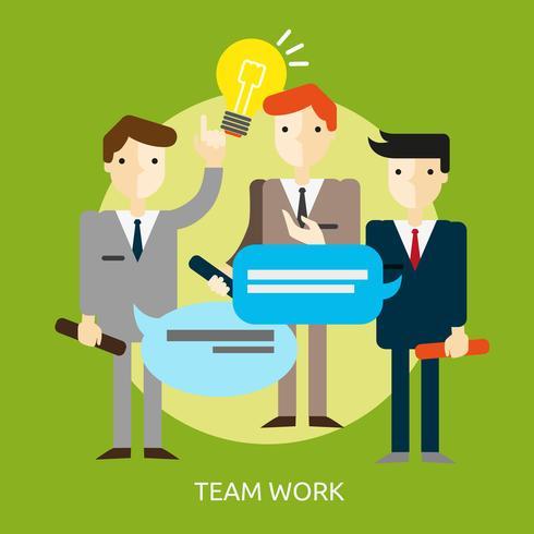 Team Work Conceptual illustration Design vector