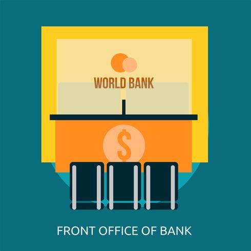 Front Office der Bank konzeptionelle Illustration Design