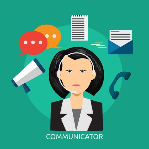 Comunicador Conceptual Ilustración Diseño
