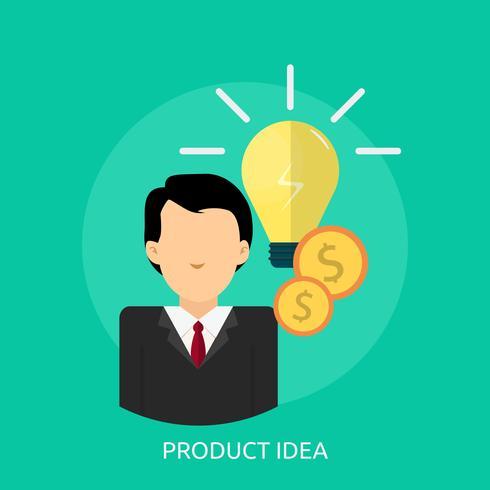 Progettazione concettuale dell'illustrazione di idea del prodotto