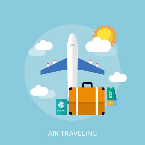 Aire Viajando Conceptual Ilustración Diseño