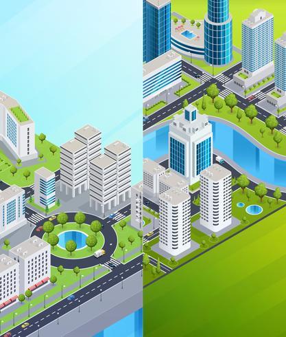Isometrische Stadt Banner