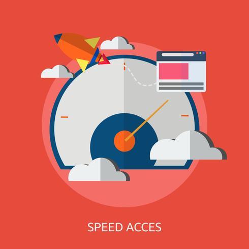 Velocidad y accesos conceptual ilustración diseño. vector