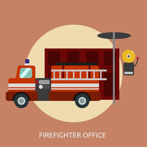 Firefighter Office Conceptual illustration Design