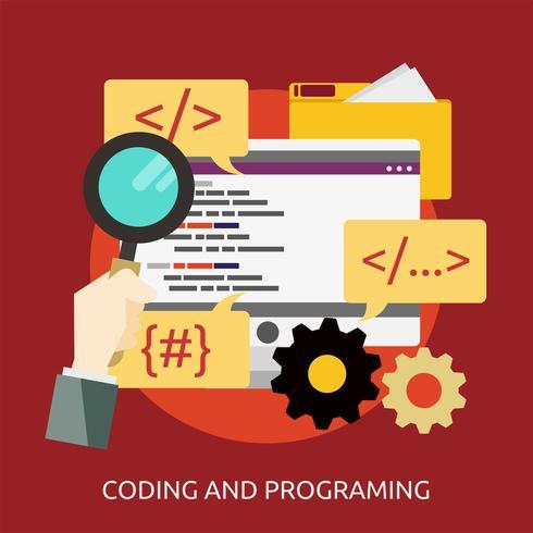 Kodieren und Programmieren konzeptionelles Illustrationsdesign