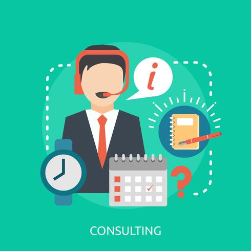 Konsultation Konceptuell illustration Design