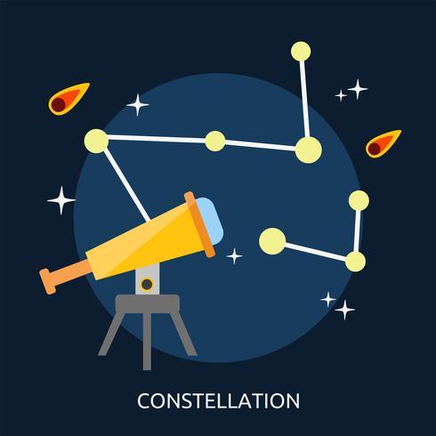 Constelación conceptual ilustración diseño