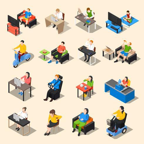 Sedentary Life Icon Set