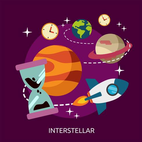 Interstellär konceptuell illustration Design vektor