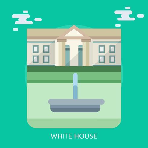 Casa Blanca Ilustración Conceptual Diseño vector