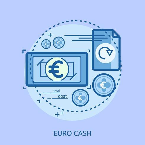 Dólar efectivo conceptual ilustración diseño