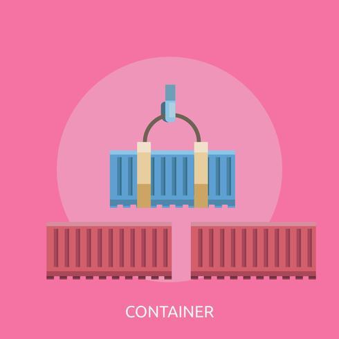 Contenedor Conceptual Ilustración Diseño