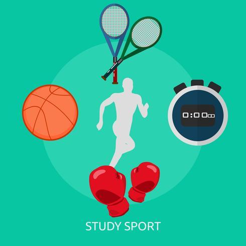 Estudio deporte conceptual ilustración diseño