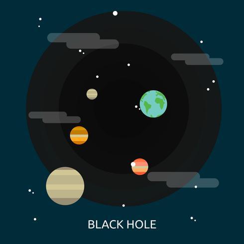 Disegno concettuale dell'illustrazione del buco nero