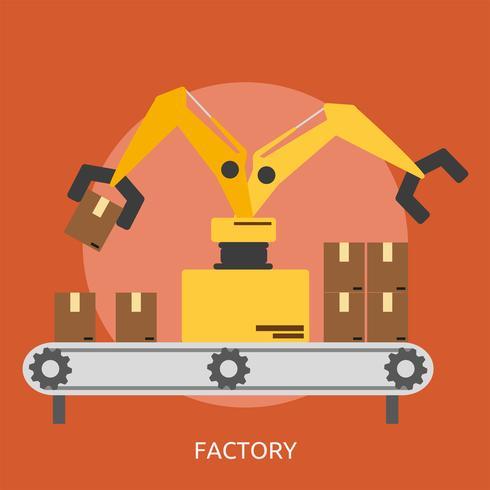 Ilustração conceitual de fábrica Design