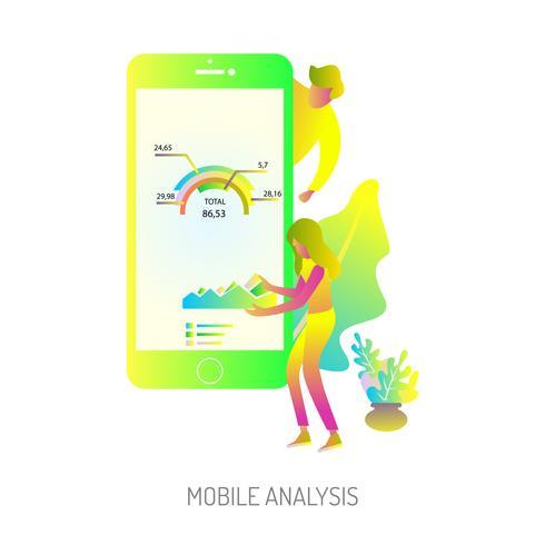 Progettazione concettuale dell'illustrazione di analisi mobile