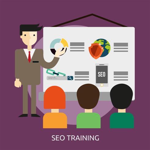 SEO Training konzeptionelle Illustration Design