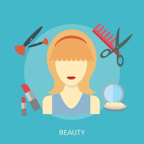 Belleza conceptual ilustración diseño