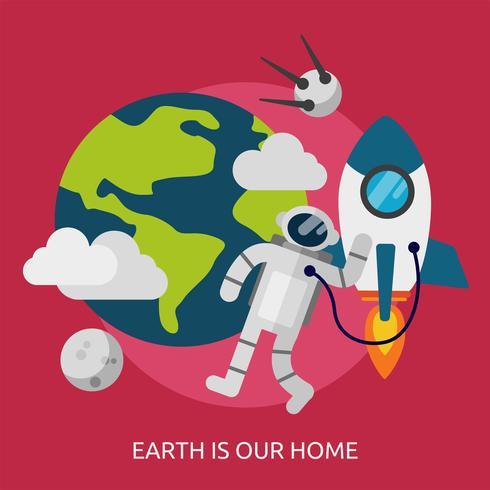 La tierra es nuestro hogar Ilustración conceptual Diseño vector