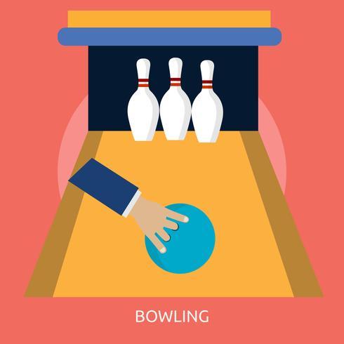 Bowling 2 konzeptionelle Illustration Design