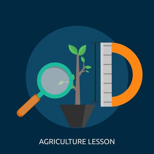 Lección de Agricultura Ilustración conceptual Diseño