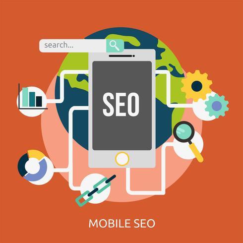 Diseño de ilustración conceptual de SEO móvil