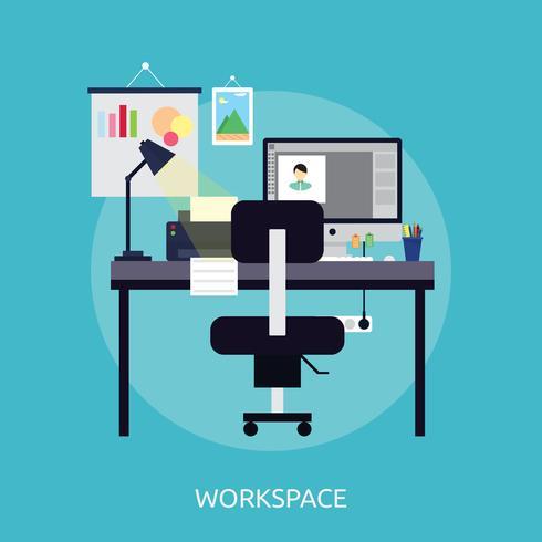 Arbeitsbereich konzeptionelle Illustration Design