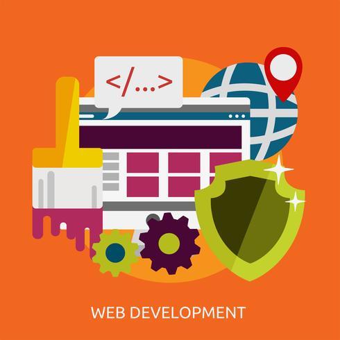 Desarrollo web conceptual ilustración diseño