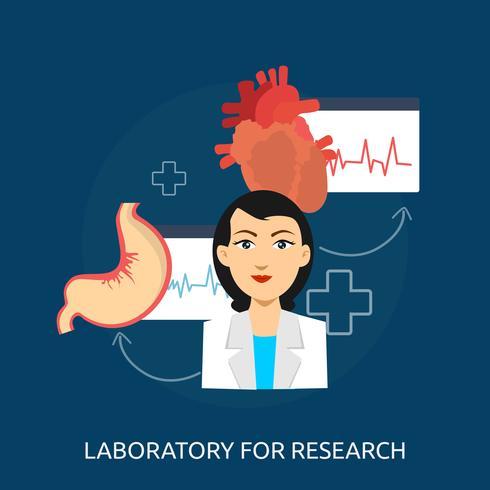 Laborforschung konzeptionelle Illustration Design