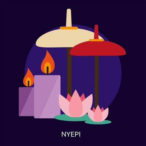 Progettazione concettuale dell'illustrazione di Nyepi