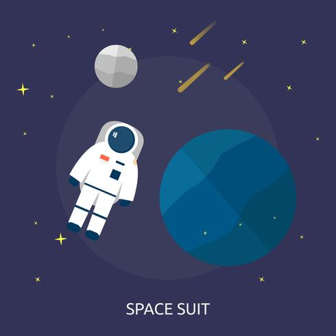 Space Suit Conceptual illustration Design