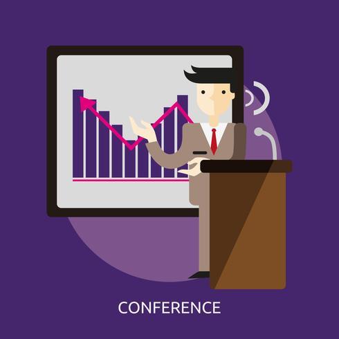 Ilustração conceitual de conferência Design