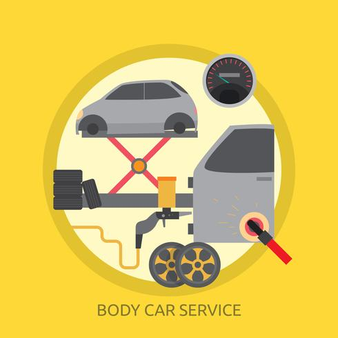 Body Car Service Konceptuell illustration Design