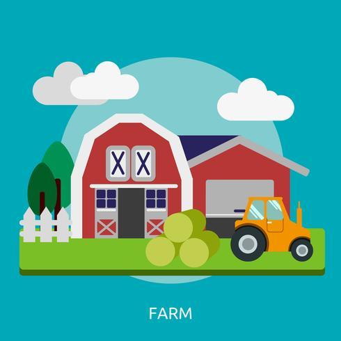 Bauernhof konzeptionelle Illustration Design