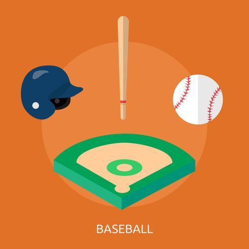 Ilustración conceptual de béisbol diseño