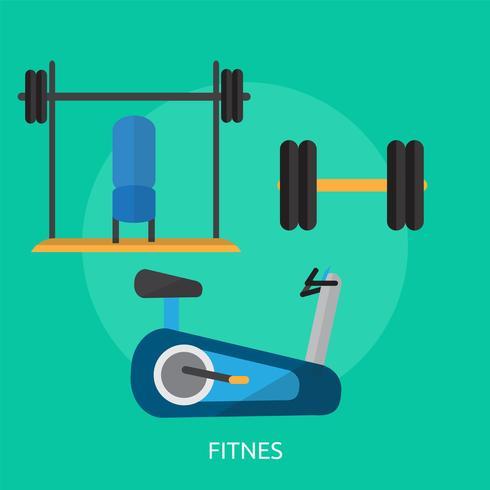 Fitnes konzeptionelle Illustration Design
