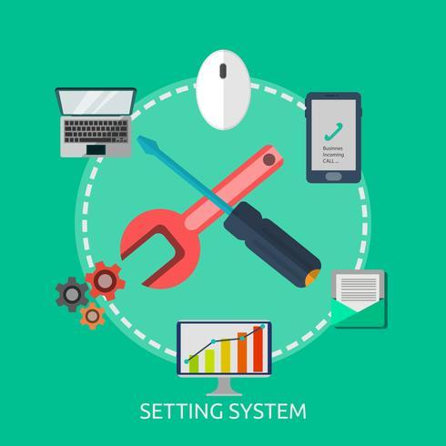 Impostazione del sistema di illustrazione concettuale vettore