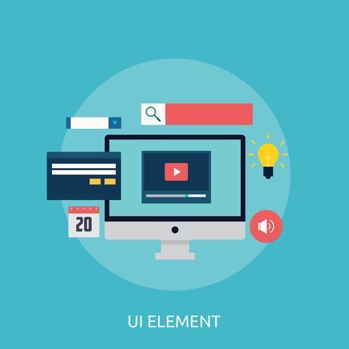 Elemento UI Diseño conceptual de ilustración vector