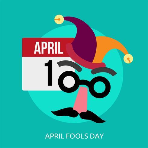 Progettazione concettuale dell'illustrazione di April Fools Day