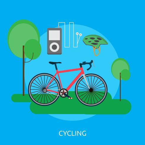 Radfahren konzeptionelle Illustration Design
