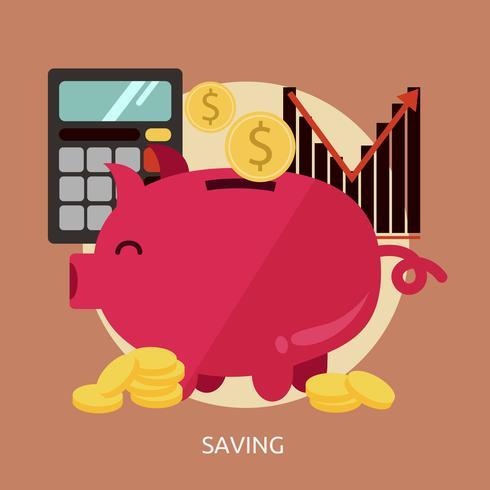 Saving Conceptual illustration Design vector