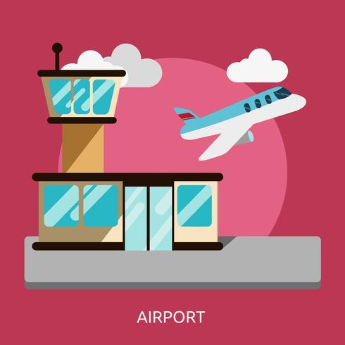 Aeropuerto Conceptual Ilustración Diseño vector
