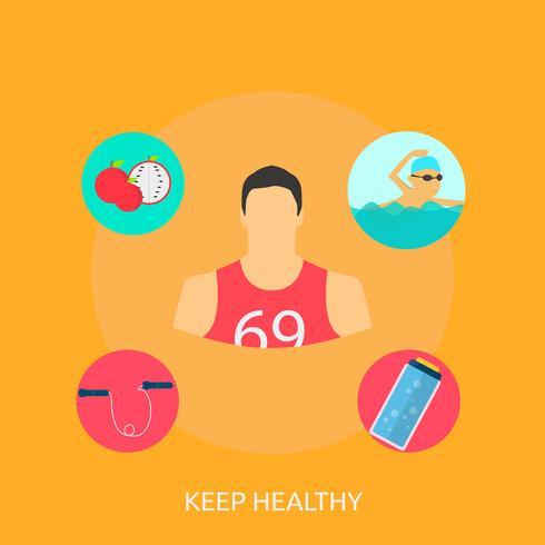 Mantenga el diseño conceptual saludable ilustración vector
