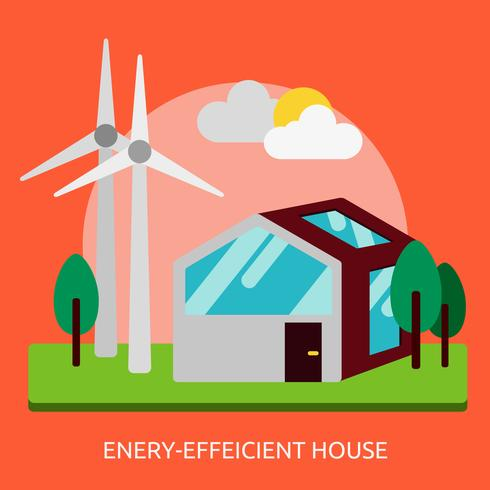 Maison éconergétique Illustration conceptuelle Design