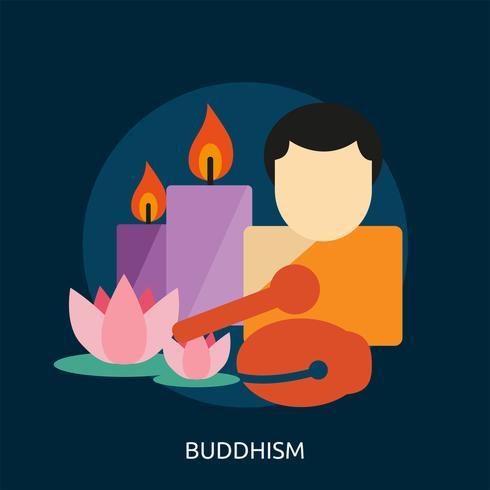 Budismo conceptual ilustración diseño