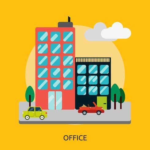 Oficina Conceptual Ilustración Diseño vector