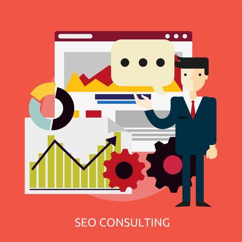 Ilustração conceitual de consultoria SEO Design