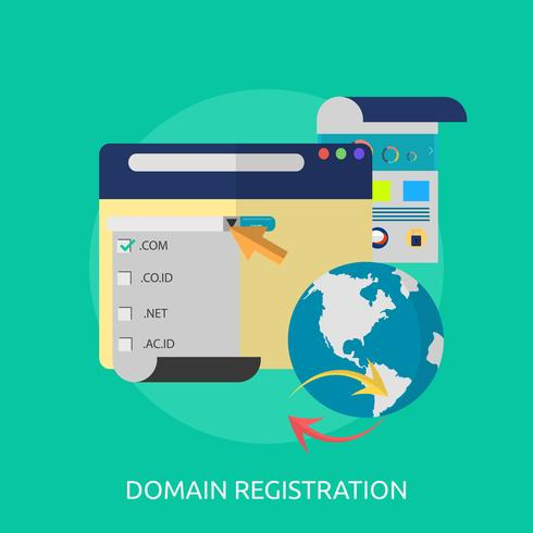 Ilustração conceitual de registro de domínio Design